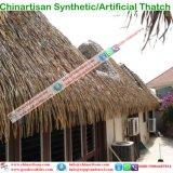 De tropische Synthetische Hars van de Stijl van het Eiland met stro bedekt Plastiek met stro bedekt