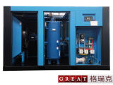 Tipo compressor refrigerar de ar de ar do parafuso do rotor da alta pressão dois
