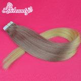 Prolonge brésilienne de cheveux humains de Remy de bande de couleur d'Ombre