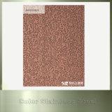 Material de construcción inoxidable decorativo de la hoja de acero del satén de bronce de 201 rojos