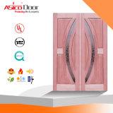 Твердая деревянная дверь парадного входа свода верхней части двери