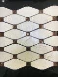 다이아몬드 회색 노란 대리석 돌 모자이크 타일