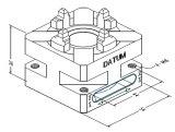 EDM /ワイヤ放電加工用のクイックマニュアル4爪チャック50