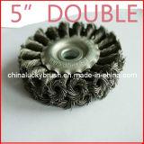 5 인치 두 배 철강선 바퀴 솔 (YY-233)