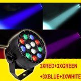 Hot Sale 12W RGBW LED Stage PAR Light Controle de Voz Colorful Disco Spotlight Stage Light para Disco DJ Party Show
