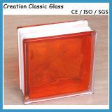 145 * 145 * 80mm Ladrillo de cristal para el vidrio del edificio