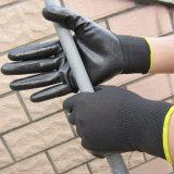 Нитрил окунул полиэфир перчатки/Nylon покрынную нитрилом перчатку