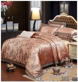 Insiemi di lusso del coperchio del Duvet del jacquard di colore dell'oro