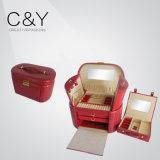 Коробка хранения ювелирных изделий PU Croco способа кожаный