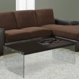 Древесина самомоднейшей конструкции и журнальный стол мебели стекла домашний (Z160708-F)