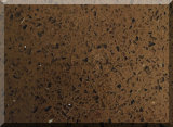 Pedra de vidro de quartzo da faísca da cor escura do café com os 20mm grossos