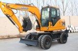 Escavatore X80-L, 8ton, 0.3cbm della rotella del motore della fila III di Yanmar