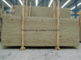 A chaminé bege do mármore da pedra calcária de Jura telha lajes das bancadas para a venda