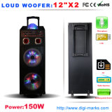 Altavoz de alto rendimiento Karaoke portátil recargable colorida luz LED