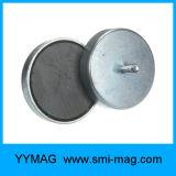 ねじで締められた穴が付いている亜鉄酸塩の鍋の磁石のホールダー