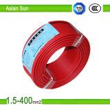 450V/750V câble de fil isolé par PVC de construction du câblage cuivre BV/Bvr