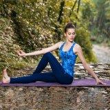 Baumwoll-und Spandex-Yoga-Hosen-reizvolle Trägershirt-Gymnastik-Abnützung