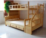 Heißes Selling Solid Wood Bunk Bed mit Ladder Ark (M-X1110)