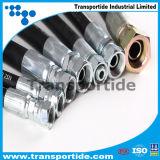 Mangueira de borracha hidráulica de alta pressão Aswsembly de SAE100 R12 4sp para a indústria petroleira