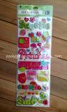 분홍색 소녀 스크랩북 수공지 기술 접착성 3D 스티커