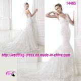 Cerimonia nuziale sexy pura elegante romantica del vestito con aperto indietro