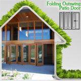 Portelli di piegatura di alluminio di legno solido di disegno moderno