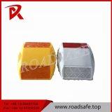 Double réflecteur en plastique rond r3fléchissant de borne de route de lumière jaune de sûreté