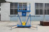 Leichter elektrischer hydraulischer Aluminiummast-vertikaler Mann-Aufzug