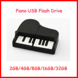 Mecanismo impulsor del flash del USB del piano del PVC de memoria Flash del disco de U