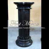 Coluna de mármore preta para a decoração Home Mcol-314