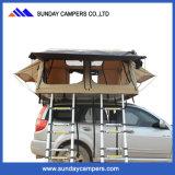 Barraca dobro impermeável de acampamento da parte superior do telhado do carro do safari da família da escada