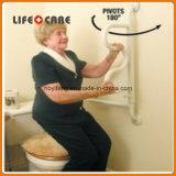 Barra di gru a benna della toletta di handicap della curva della stanza da bagno per gli handicappati