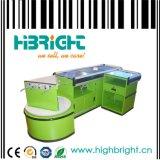 Teller van de Controle van de supermarkt de Elektrische Roestvrije met Transportband (hbe-007)
