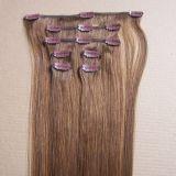 人間の毛髪の100%のヨーロッパ人のRemyクリップ
