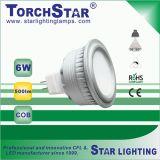 36程度のビーム角のアルミニウム穂軸6W MR16 LEDの点ライト