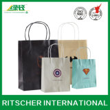 Cotton Handle를 가진 쇼핑 Promotion Gift Carrier Kraft Paper Bag