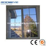 Ventana deslizante de aluminio de doble vidrio de alta calidad con parrilla