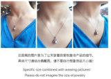 Toebehoren 925 van de Juwelen van de Gekweekt parel van de Halsband van de Tegenhanger van de Parel van de Nevel van de manier Zilveren ZoetwaterJuwelen van het Kostuum van de Parel van Botton van de Halsband van de Strook de Echte