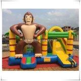 Qualidade superior combinado da corrediça nova do Rei-Kong Engraçado Gorila Inflável Bouncer