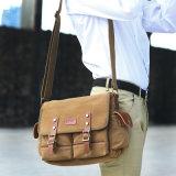 Mensajero de la computadora portátil del bolso del hombre de la lona y bolso de hombro