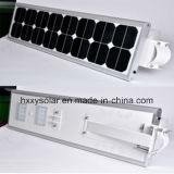 IP65 la alta calidad 6W-100W integró todos en una luz de calle solar del LED