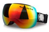 Lunettes interchangeables de Snowboard de verres de sûreté de lentille de PC avec le cas d'EVA