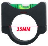 Niveau d'esprit rond en aluminium d'anti bulle en porte-à-faux biseautée de dispositif du systeme optique 35mm ACD de vecteur mini pour la portée de fusil de Riflescope
