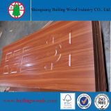 Peau stratifiée blanche de porte de la mélamine HDF avec le prix bon marché