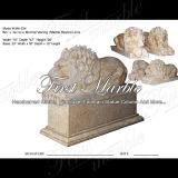 Escultura do leão de Metrix Carrara para Decoraton Home Ma-534