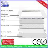 AC85-265V에 의하여 중단되는 사각 9W LED 위원회 또는 천장 빛