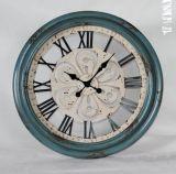 Horloge de mur romaine en métal de numéro de type antique