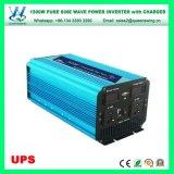 12/24V UPSの15A充電器が付いている純粋な正弦波1500Wの太陽エネルギーインバーター(QW-P1500UPS)
