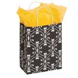 Client avec du charme moyen de papier de halo de sacs en papier de Brown de sacs en papier de transporteur