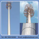 Башня GSM WiFi радиосвязи рангоута антенны Galvanzied стальная Поляк
